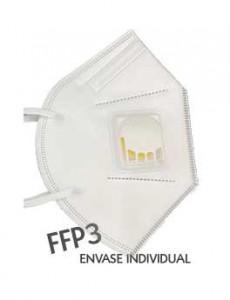 mascarilla FFP3 con válvula