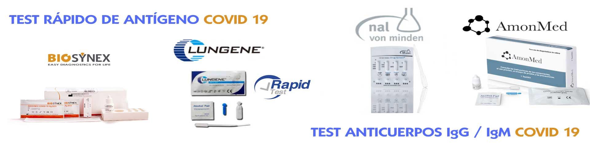 test antígenos covid 19